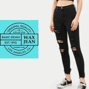 Wax Jean Distressed Skinny Jeans - Size 7